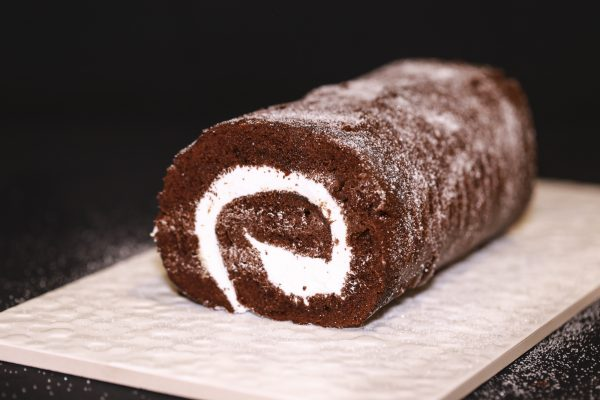 Gluten Free chocolate swiss roll cake, order online for delivery across Australia