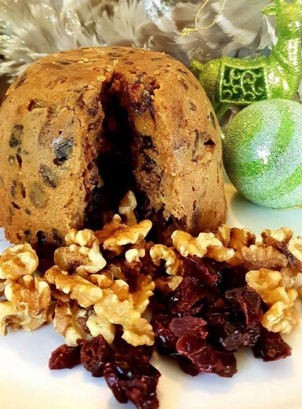 Gluten Free Gourmet Cranberry & Walnut Pudding Artizan Gluten Free Bakery in Rockhampton online orders delivered across Australia