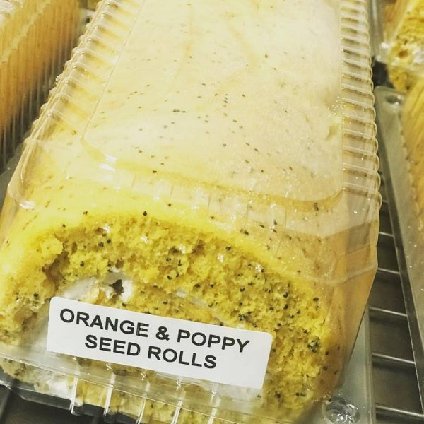 Gluten Free orange and poppy seed roll from Artizan Gluten Free Bakery in Rockhampton